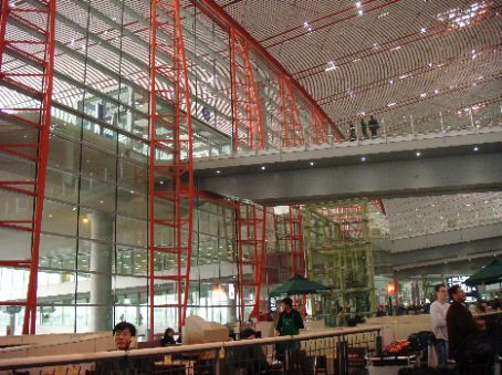 Enormous new terminal 3 of Beijing, which opened March 26th 2008