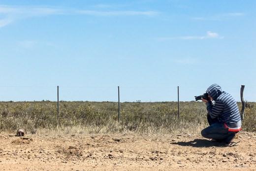 Me taking picture Mulita - Puerto Madryn - Argentina 2013