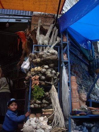Witches market in LaPaz.