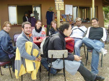 The gang having Lunch on Isla Del Sol