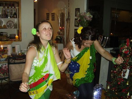 Christmas eve - Brazilian party - showing off our samba