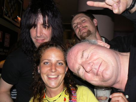 MT, Paddy the Pilot, Martin and bassist in Lauren Harris
