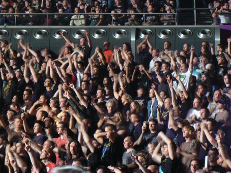 The all in black Maiden fans
