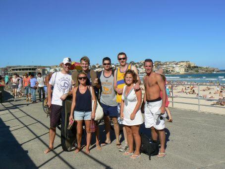 South Kerry Gang at Bondi Beach curing the hangover...