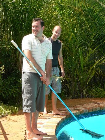Our pool cleaners John and Paul