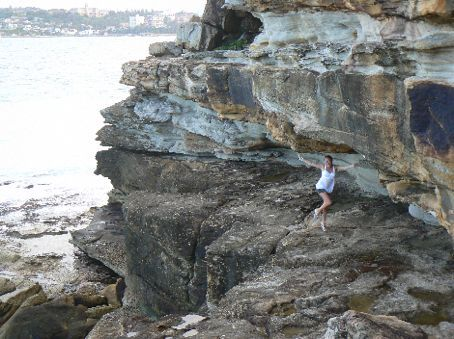 Grace dancing on the cliffs in Manley