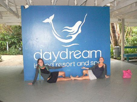 The posh posers after a night on daydream island