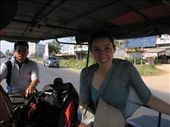 On a tuk-tuk (they're different across Thailand -- this one was a dirt-bike attached to a cart and and the passengers sit in the front of the contraption): by ericolofson, Views[379]