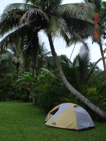 Our spot at the Beach House.  The first night we were the only campers.  A few more joined us later.