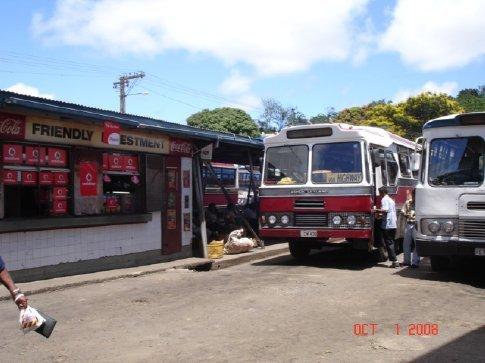 Bus stop in Sigatoka.