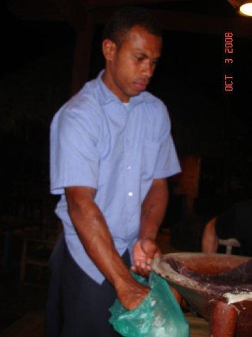 Blicks prepared kava.