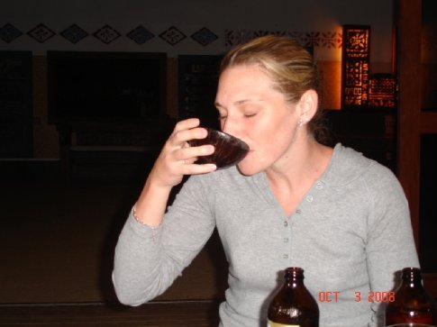 Louise drank the kava like a pro.