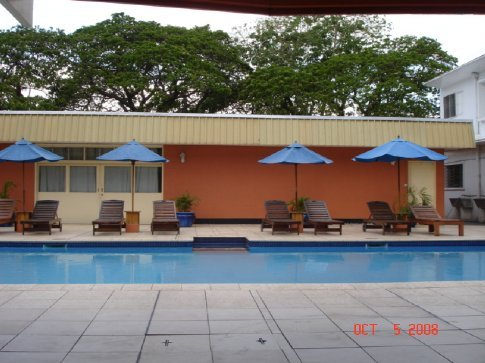 The pool at the Cathay Hotel.