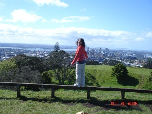 From the top of Mt. Eden you can get a pretty good view of Auckland.