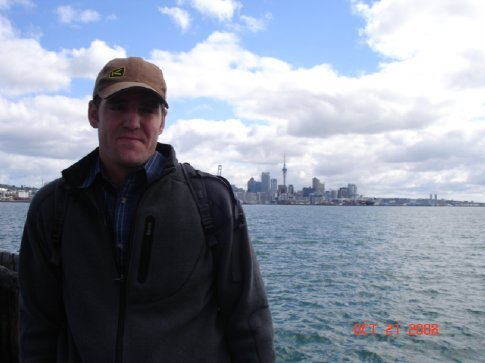 Pete and Auckland Harbor.