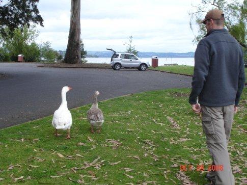 Peter making friends.