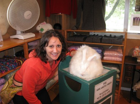 Erin & angora bunny.