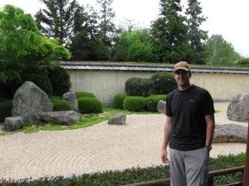 Pete liked the rock garden.