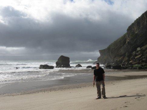 On the beach in Karamea.