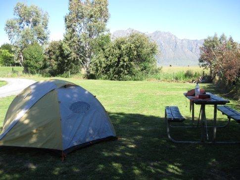 Camping near Lake Hawea.