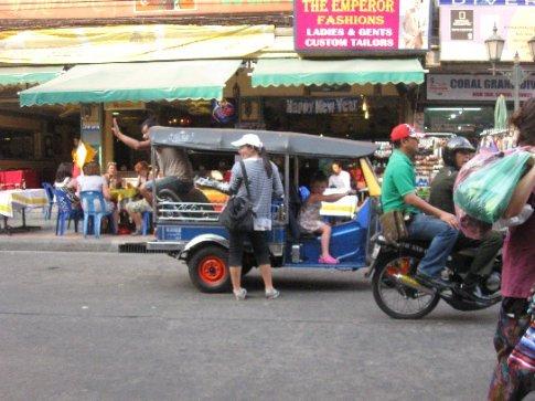 A tuk tuk on Khao San Road