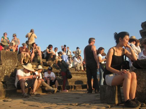 Standing room only for sunset