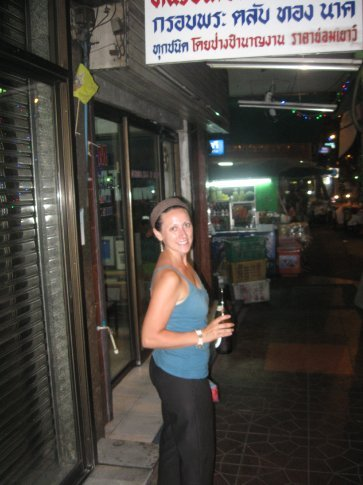 On our way back to Rambuttri Street at the end of the night