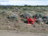 I saw a lot of these little red shrines along the road. This was the only pic I could swing: by escape_artist, Views[210]
