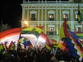 boli flags and checkered rainbow flags for the indigenous rights movement: by espivak, Views[213]