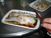 ...en hoe het op je bord verschijnt. Speciaal kantoneesgerecht met zeewier (als ik het goed begreep?) ziet er niet heel smakelijk uit, maar was echt heerlijk!!: by esther_in_china, Views[289]
