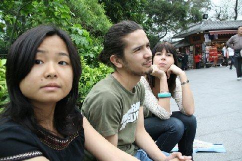 v.l.n.r.: Nerissa, Guido en Iris. Guido heeft ook bij Ask4me stage gelopen (werkt er nu een beetje freelance) en Iris is zijn vriendinnetje. Zij is hier ook pas sinds een week.
