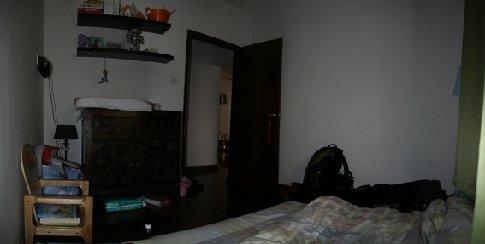 mn kamer bij Jorg&Boukje (mn bazen) in huis, gezien vanaf mn bed