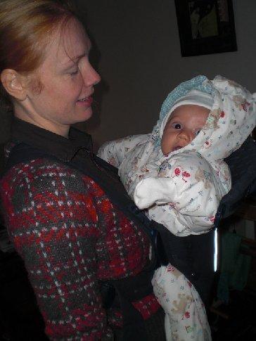 Julius had lekker een warm beren jasje aan... ahh schatje!