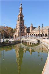 Plaza de España known in English as Spain Square, is one of the famous sights in Seville. It is located in Maria Luisa Park and was designed by Anibal Gonzalez. It is a good example of the Rennaisance Revival Style in Spanish Architecture. It is the site of the Spanish pavilion from the 1929 exhibition.  Don't miss walking around the area and if you have enough time, take a walk in Maria Luisa Park is also a good  chance to relax and enjoy its landscape. There are also attractive monuments and museums for you to discover.: by euroangel, Views[331]