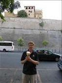 Ian in front of the Vatican wall with an exceptional gelato: by europe2013, Views[462]