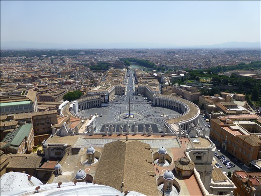 View from the top of St Peters