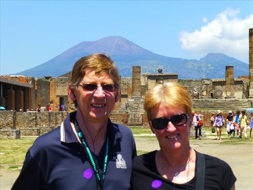 In Pompeii in front of Vesuvius