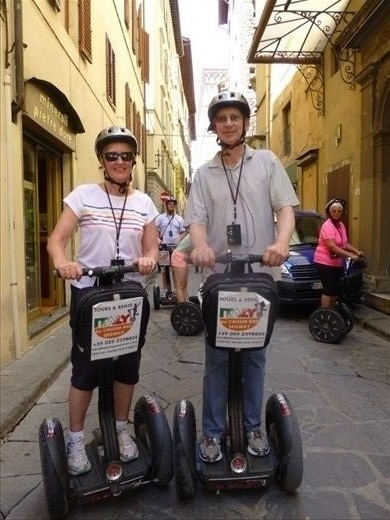 On our Segways in Florence