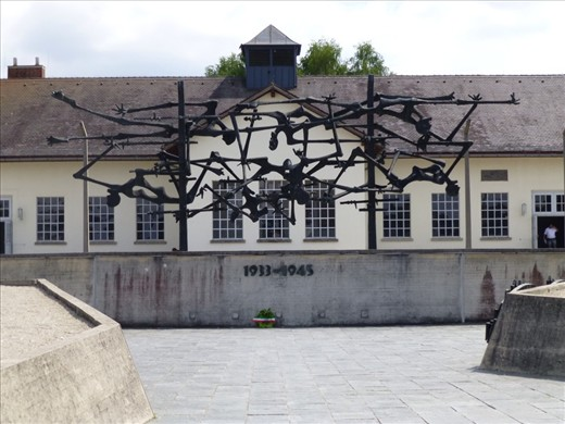 A sculpture at Dachau - designed by one who was there
