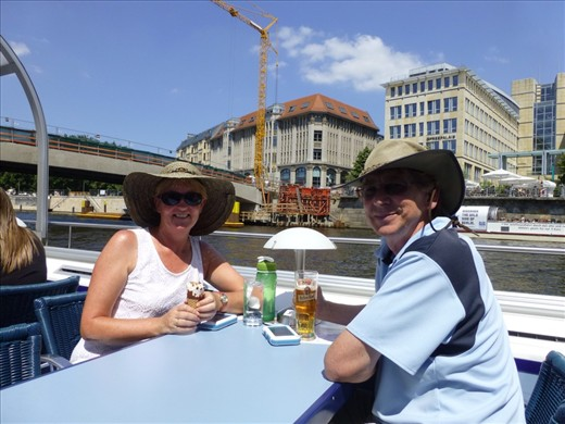 On a cruise of te River Spree
