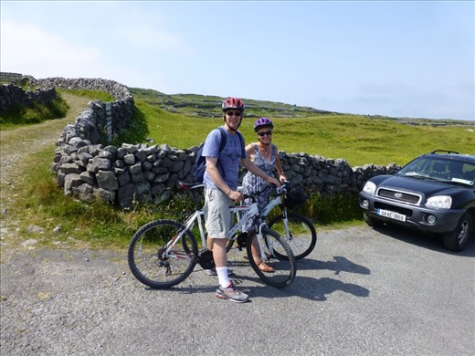 Cycling around Aran islands