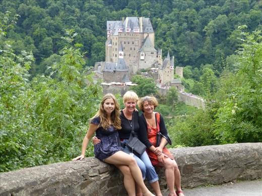 Burg Eltz with Kerstin and her mum, Ute