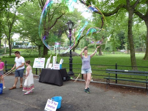 Bubbles in Central Park
