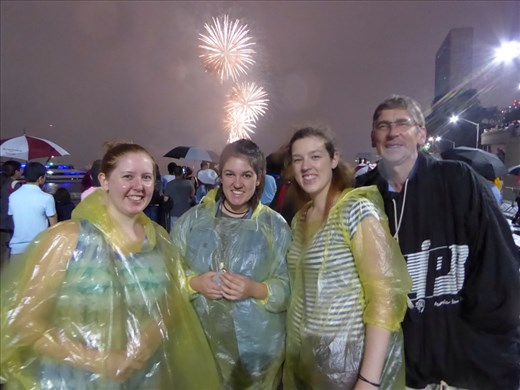 It was dry for the fireworks