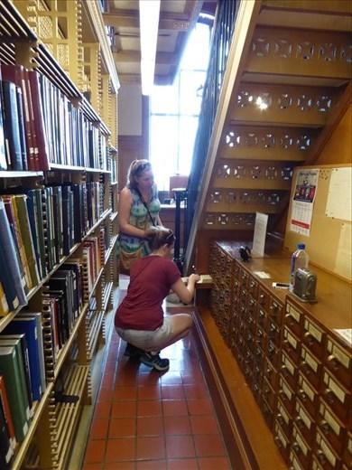 Having fun at the NY Library