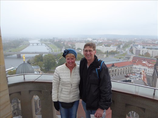 At the top of the Frauenkirche