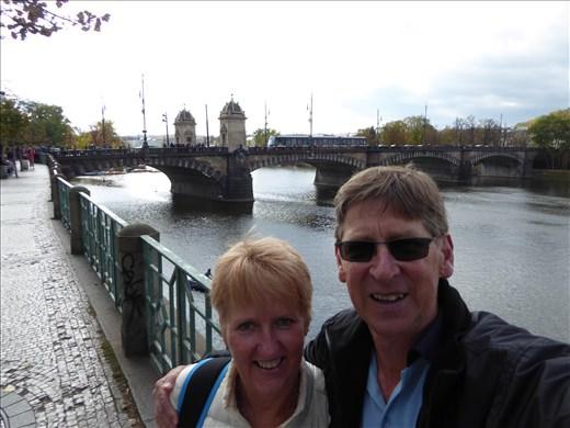 Charles Bridge in the background