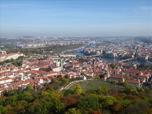 View of Prague from the Petrin tower