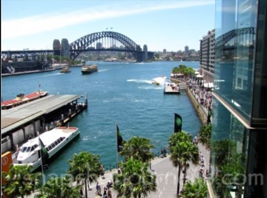 Views of the harbour from the Cahill Expressway
