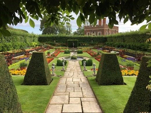 One of the beautiful gardens at Hampton Palace